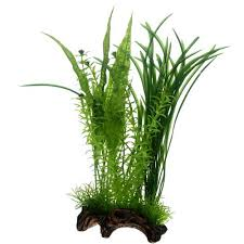 plante artificielle pour aquarium hobby flora root 1 l plante artificielle sur support céramique