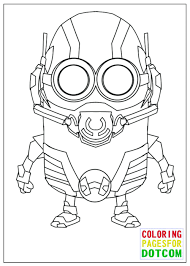 Free Printable Minion Birthday Coloring Pages Minions Sheets Kids Ant Man Mode Halloween Colouring