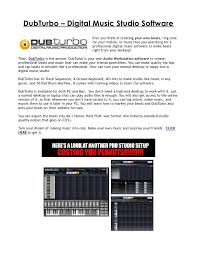 DubTurbo Digital Music Studio Software