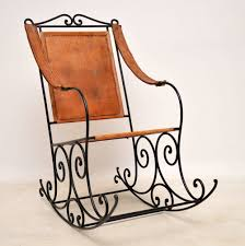 Antique Wrought Iron & Leather Rocking Chair Agha Rocking Chair Outdoor Interiors Magnificent Wrought Iron Chairs Vintage Garden Table Black Leather Chaise Lounge Modern Fniture Living Wood And Amazonin Home Kitchen Victorian Peacock Lawn Patio Set Best Images About On 15 Collection Of 4 French Folding Metal Teak Seat Bistro Amazoncom Bs Antique Bronze Scoll Ornate Cast In Worsbrough South Yorkshire Gumtree Surprising Bedroom House Winsome