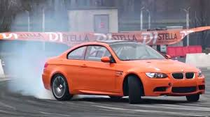 Orange BMW M3 E92 AMAZING DRIFTING