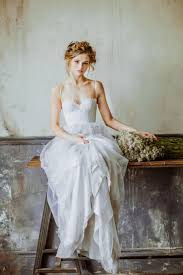 Grey Lace And Tulle Boho Ballet Inspired Rustic Bridal Wedding Dress