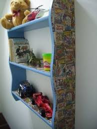 Superhero Bedroom Decor Uk by Old Wooden Tallboy Painted Grey With Marvel Comic Strip Decoupage