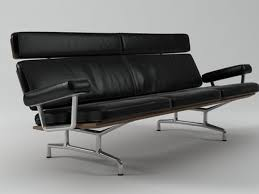 Eames Sofa Compact Used by Eames Sofa 3 Seater 3d Model Herman Miller