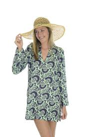 hiho voile cotton printed caribbean style beach cover up culebra