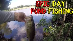 Epic Day Of Pond Fishing For Bass -