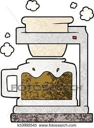 Clipart Of Cartoon Coffee Pot K53992545