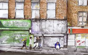 100 Dublin Street Matt Ryder Caricature Scene