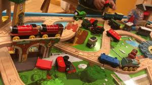 Trackmaster Tidmouth Sheds Toys R Us by Thomas And Friends Train Table Wooden Railway Knapford Station