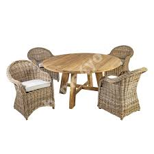 Garden Furniture Set KATALINA Table And 4 Chairs (42052) KATALINA  D150xH78cm, Material: Recycled Teak Wood, Color: Natur Burke Inc Mid Century Modern Saarinen Style Tulip Round Table 4 Chairs Ding Set Donatella 160cm With Parker Set Extendable Walnut Stained Table Bench And Chairs Natura Ding Tablebench4 Nat0088 Molly 48 Upholstered Side Dning Room Versilia Extending Grey Barker Stonehouse 5pcs Glass Metal Kitchen Breakfast Fniture Julian Bowen Richmond Midnight Blue Chrome Lucite 70s Hollis Jones Era Costway 5 Piece And Home Room