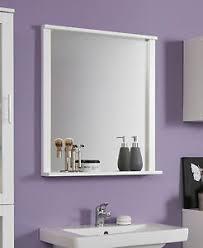 details zu badspiegel wandspiegel weiß mit ablage bad badezimmer möbel spiegel florida