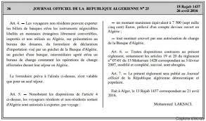 banque d algérie à partir de 1000 euros la déclaration de