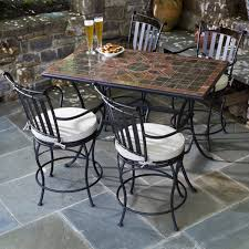 Bar Height Bistro Patio Set by Awesome Gathering Height Outdoor Dining Sets Addison Counter