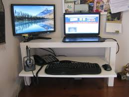 Dual Monitor Standing Desk Attachment by Wide Lack Standing Desk Ikea Hackers Ikea Hackers