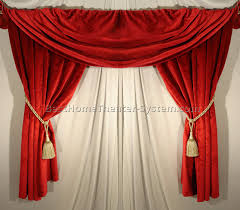 Absolute Zero Curtains Red by Home Theater Curtain Ideas Best Home Theater Systems Home