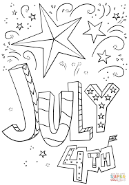 4th Of July Doodle Coloring Page Within Fourth Printable Pages