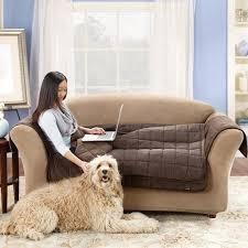 surefit quilted velvet deluxe sofa pet throw cover walmart com