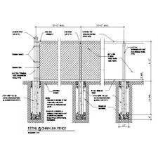 The Drawing Of Anti Climb Fence Installation Including Cad Dwg Drawing Of A Chain Link Fence Cadblocksfree Cad Blocks Free