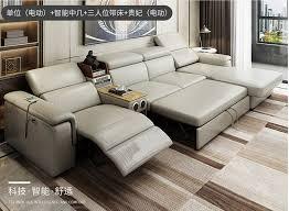 wohnzimmer sofa bett echte echtem leder sofas salon