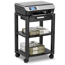 Rolling fice Cart Machine Printer Stand Organizer Supplies