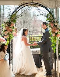 Hydrangea Rose Wedding Arbor