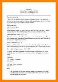 Cv Templates Microsoft Wordcv Template 13 14 15 Year Old 185x270
