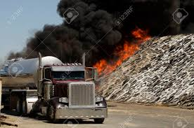 100 Silage Trucks Fire Fighters Respond To A Semi Truck And Fire At A Dairy