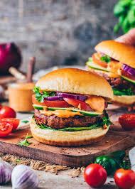 vegane burger veggie patties