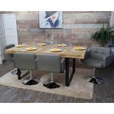 esszimmerstuhl orlando küchenstuhl drehstuhl stuhl kunstleder chrom taupe grau