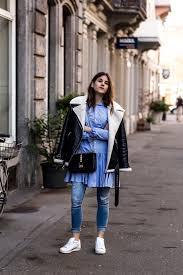 the fashion fraction polo ralph lauren shirt dress over jeans