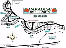 Lake Forks Paradise Forest RV Lot Layout