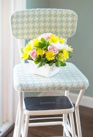 Cosco Retro Chair With Step Stool Yellow by Vintage 60 U0027s Step Stool Gets A Makeover Paint Yourself A Smile