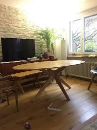 oval tisch mit dem sitzbank kaufen auf ricardo