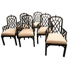Set Of Six Or 10 Chinese Chippendale Dining Arm Chairs ... Bamboo Chippendale Chairs Small Set Of Eight Tall Back Black Faux Chinese Chinese Chippendale Florida Regency 57 Ding Table Vintage Six A Quick Living Room And Refresh Stripes Whimsy Side By Janneys Collection Chair Toronto For Sale Four
