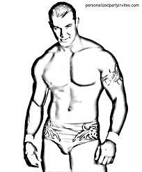 John Cena Coloring Page Randy Orton