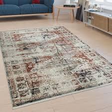teppiche kurzflor teppich bunt abstraktes muster bordüre