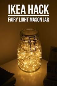 Mason Jars Filled With Fairy Lights