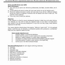 Resume Resume Career Objective Part Time Job Best For Top Ten