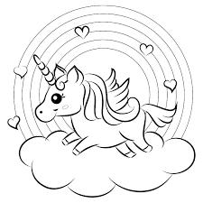 Coloring Pages Unicorns Unicorn Rainbow 9 Free