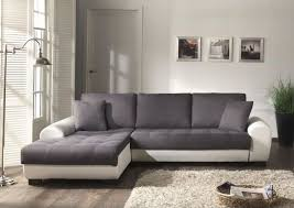 c discount canapé canapé d angle gauche cloe convertible en simili et tissu 4 places