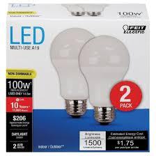 feit a19 100 watt led light bulb 2 pack soft white target