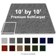 10 ft x 10 ft premium interlocking soft carpet tile tradeshow