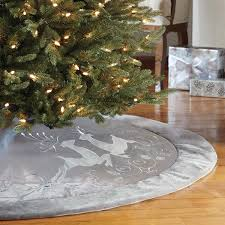 Puleo Christmas Trees by Adjustable Silver Christmas Tree Skirt