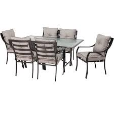7-Piece Outdoor Patio Furniture Metal Dining Set With Cushions
