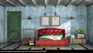 stock image 25416506 colorful bedroom in retro style