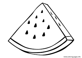 Printable Watermelon Fruit Sfdbb Coloring Pages