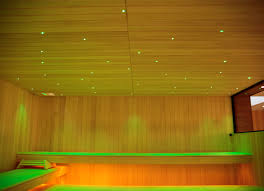 Fibre Optic Ceiling Lighting by Tylo Sauna Fibre Lights Public 8 Light Points