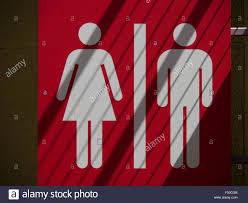 Gender Inclusive Bathroom Sign by Unisex Gender Neutral Bathroom Sign Stock Photo Royalty Free