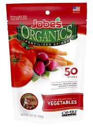 Natural Fertilizer For Pumpkins by Amazon Com Jobe U0027s Organics Vegetable U0026 Tomato Fertilizer Spikes
