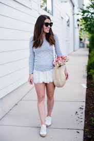 stripe tee eyelet shorts sequins u0026 stripes